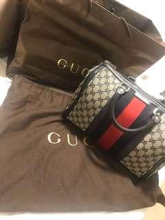 Gucci Vintage Original GG Boston Web - Navy