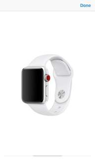 Authentic New Apple Watch Sport band (white) 38mm