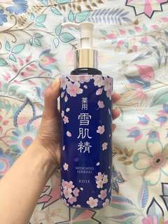 Kose Medicated Sekkisei ~ A famous medicated toner from Japan for ideal whitening and balancing skin.