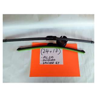 "Soft advantage Wiper more stylish (24""+17"") alza/inspira /lancer gt/rav4"