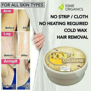 Bundle - honey and activated charcoal cold wax hair removal