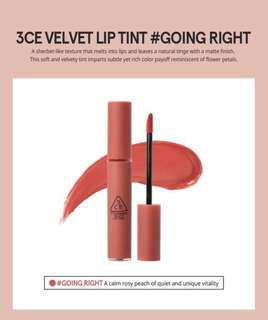 READY STOCKS | Stylenanda 3CE Velvet Lip Tint - Going Right