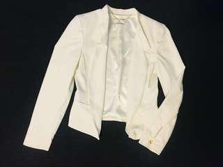 Forever New White Blazer Size 8