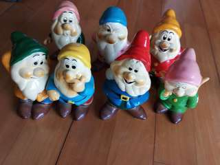 迪士尼七個陶瓷小矮人