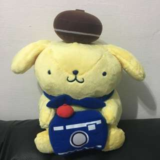 Pompompurin with Camera Plush Toy