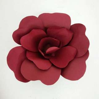 Maroon Paper Flower for SELL