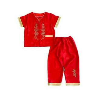 Boy CNY Chinese Costume Set - Red Lantern