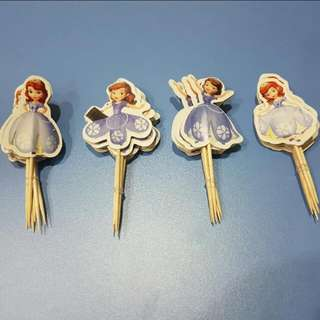 Cake Deco Sticks - Sofia The First 24pcs