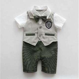 Baby Gentleman Tuxedo Romper - Sir Edward
