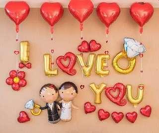 I Love You 示愛/結婚/求婚汽球套裝 (I Love U package)