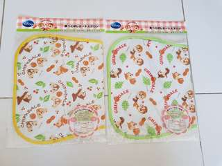 Disney Baby Chip And Dale Feeding Bibs. Two 2 way. Waterproof. Brand New. Selling As A Set