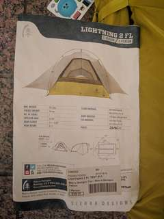 Sierra Designs Lightning 2 FL (2015) Freestanding Ultralight Tent