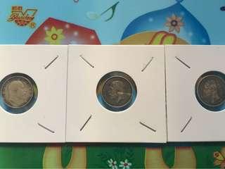 面值少 舊銀幣 3枚