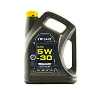 HELLO SAE 5W-30 API SN  SYNTHETIC FORMULATION ENGINE OIL