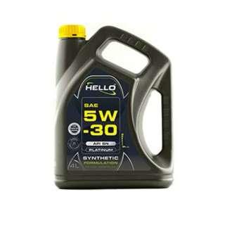 HELLO SAE 5W-30 API SN  SYNTHETIC FORMULATION ENGINE OIL