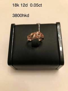 18k鑲鑽石介指
