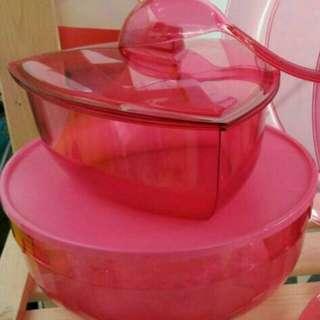 set punch bowl tupperware