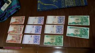 old notes Rm10 Rm5 Rm2
