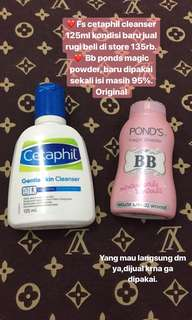 Bb ponds & cetaphil gentle wash