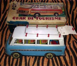 Tin toys mini bus