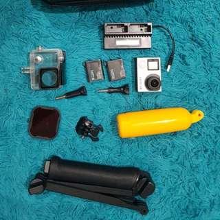 Camera Gopro Hero 4 Fullset superlengkap