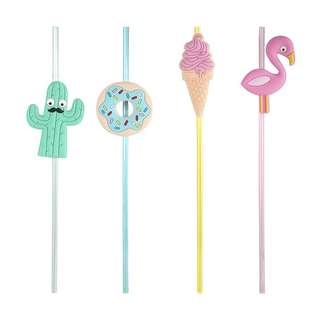 4 Pack Summer Fun Straws (pre-order)