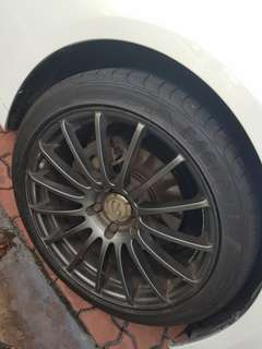 "18"" Connoisseur Rims with Tyres"