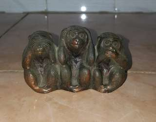 Copper 3 wise monkeys