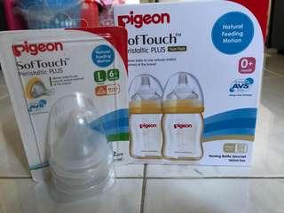 Pigeon Milk Bottle + feeding tits
