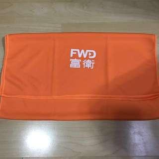 富衛 毛巾 橙色 2條