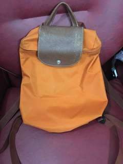 Longchamp Backpack (Orange)