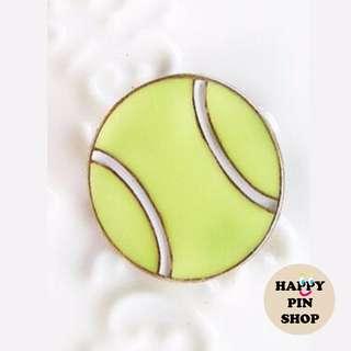 Tennis Ball Brooch Badge Pin (Sports Series)