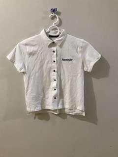 Heartbreaker Cropped Button Down Shirt