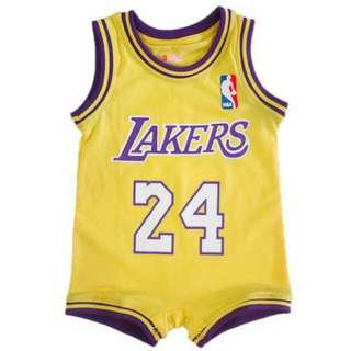 "Basketball Romper - LA Lakers ""Bryant 24"""