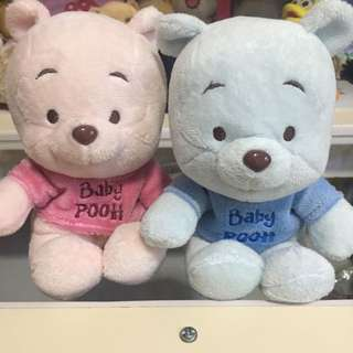 Pink and blue pooh bear