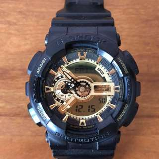 G-Shock Watch Black and Gold Colour GA-110GB-1A