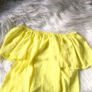 PASTEL YELLOW OFF SHOULDER