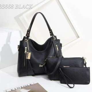 Bonia Tote Bag 3 in 1 Black Color