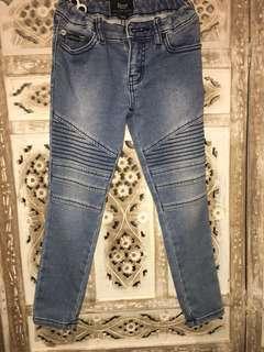 Denim biker jeans