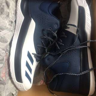 Adidas Men's Court Fury 2017 Basketball Shoe Brand New in Box Collegiate Navy/White Size US 12 UK 11.5 Runners