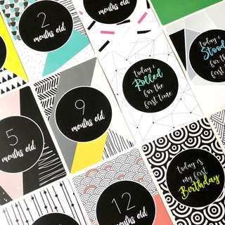 Ratukins Baby Milestone Cards