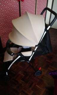 Baby brown stroller
