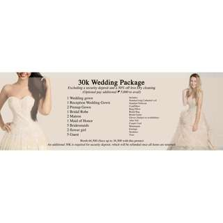 WEDDING PACKAGE 30K