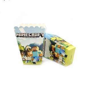 💥Minecraft Party Supplies - popcorn boxes / candy bar deco / party deco