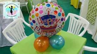 Set of 10 Foil Balloon Table Decors