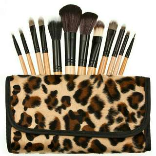 leopard brush set