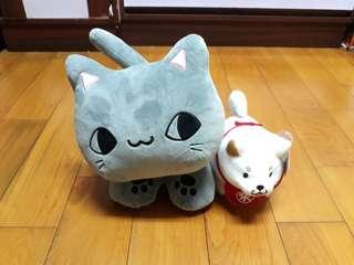 貓與柴犬 玩偶