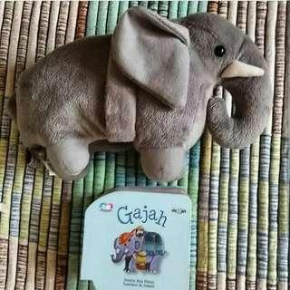 Boardbook dari puppet book Gajah kisah dalam AlQuran