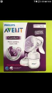 Philips avent manual breast pump and breast pad