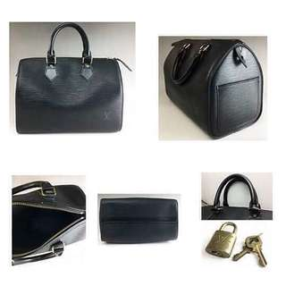 Louis Vuitton Speedy 25 Epi Black